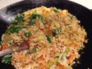 nasi goreng nel wok