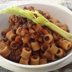 pasta e ragù di lenticchie