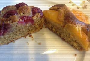 Foto torta ciliege albicocche