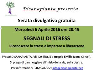 Foto locandina segnali di stress